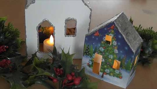 Christmas Card Houses